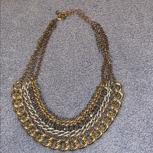 Chunky metal statement necklace